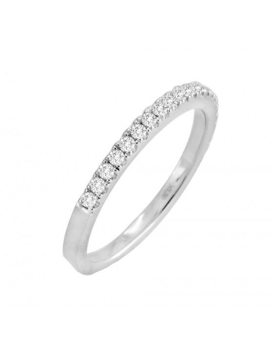 14k Solid White Gold 0.25ct Diamond Half Eternity Wedding Band Anniversary Ring