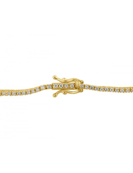 1.00ct Round Brilliant Diamond 14k Yellow Gold Ladies Tennis Bracelet 7 Inch