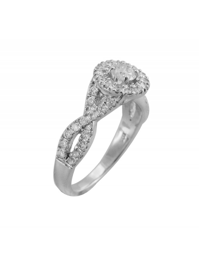 main s ct product infinity diamond platinum in wedding engagement twist ring women micropave womens