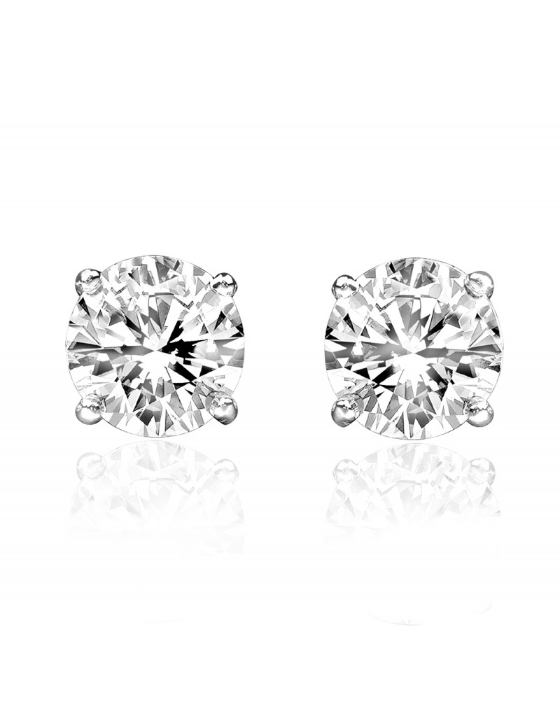 19d9f13a5 1.00ct G-H SI2 Genuine Round Diamond 14k White Gold Stud Earrings 100%  Natural
