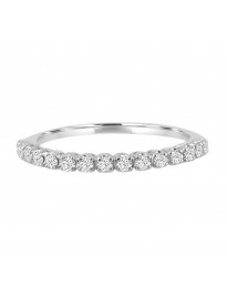 0.25ct Round Diamond 14k White Gold 1/4ct Half Eternity Wedding Band Ring