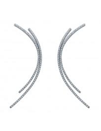 Piero Milano 0.68Ct Pave G/VS Diamond 18k White Gold Celebrity Drop Earrings