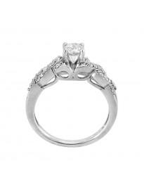 0.70ct Round H/SI Diamond 14k White Gold Infinity Engagement Ring