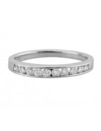 1/4ct Ladies Channel Set Round Diamond 14k Yellow Gold Wedding Band Ring