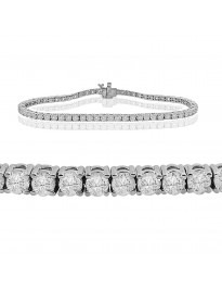3.00ct Natural Round Brilliant Diamond 14k White Gold Ladies Tennis Bracelet 7 Inch