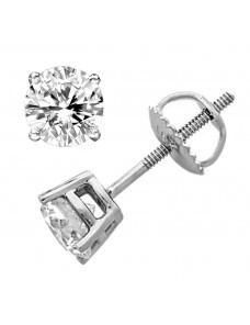 1/4ct Genuine Round Cut Diamond 14k Solid Gold Stud Earrings 0.25ct